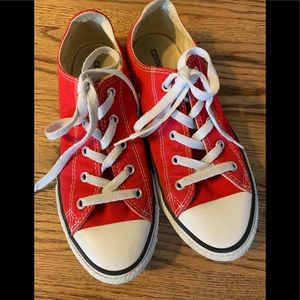 Red Converse Youth size 3